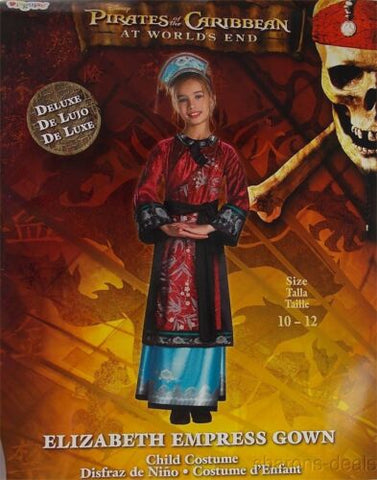 Pirates Caribbean Worlds End 10-12 L Elizabeth Empress Gown Girls Costume