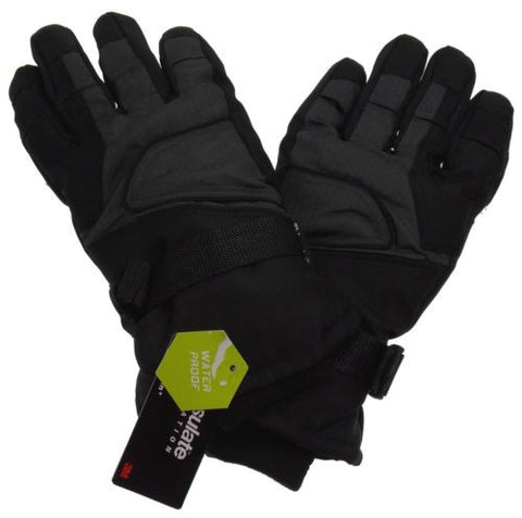 Athletech Mens Black Gray Ski Gloves 3M Thinsulate Insulation Waterproof M L XL - FUNsational Finds - 1