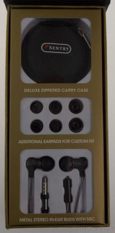 2b3ac00a942 ... Sentry Metal Pro Premium Earbuds Mic Deluxe Case H3000 Tangle Proof 7mm  Driver - FUNsational Finds ...