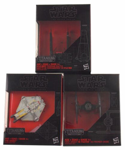 Star Wars Black Series Titanium Vehicles Lot 3 Kylo Ren Fighter Ghost 3 13 26