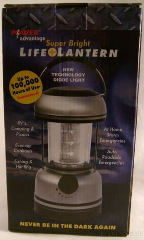 Power Advantage Super Bright LED Life Lantern Diode Light 100,000 Hours Handle - FUNsational Finds - 1