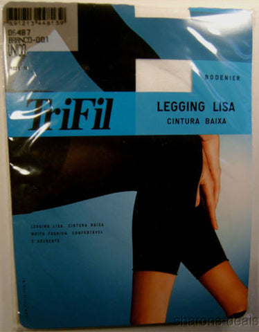TriFil Leggings Lisa Low Waist Lot 2 Pair One Size Ankle Length Footless Opaque - FUNsational Finds - 1