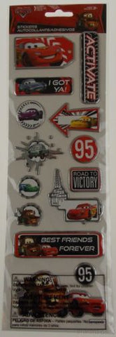 Disney Pixar Cars Movie Stickers 8 Packs McQueen Mater Finn McMissile Yellow NEW