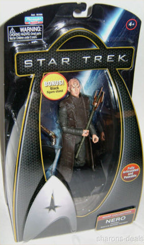"Star Trek Movie Nero 6"" Action Figure Warp Collection Playmates Disruptor Stand - FUNsational Finds - 1"
