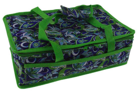 Blue Green 13 x 8 Rectangle Casserole Food Dish Insulated Travel Carry Bag Tote - FUNsational Finds - 1