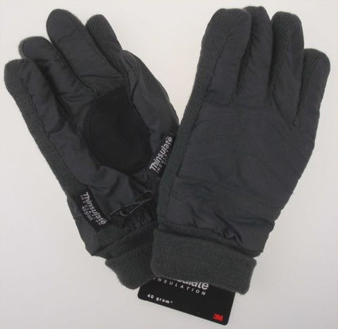 Gray Route 66 Gloves 3M Thinsulate Insulation Lined Mens Winter Snow Warm Knit - FUNsational Finds - 1