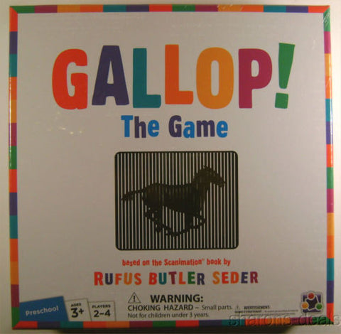 NEW Gallop! The Game Scanimation Book Rufus Butler Seeder Learning Preschoolers - FUNsational Finds - 1