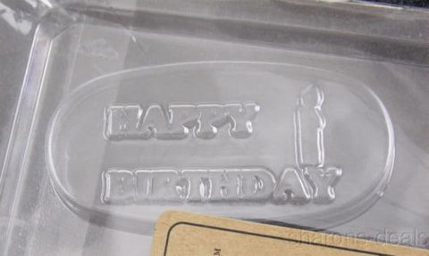 Happy Birthday Kit Lollipop Chocolate Mold Sticks 100 Bags Silver Ties K54 Candy - FUNsational Finds - 1