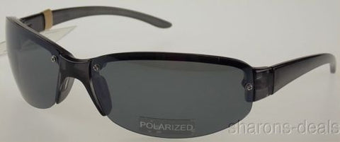 Levi Strauss DOCKERS Sunglasses 100%UV Protection Black Sport Wrap Polarized NEW - FUNsational Finds - 1