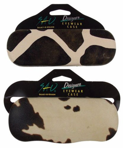 Lot 2 Select A Vision Cow Animal Print Eye Sunglasses Case Box Designer Eyewear - FUNsational Finds - 1
