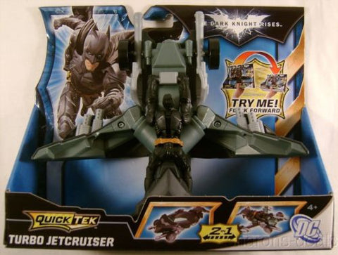 Batman The Dark Knight Rises Quick Tek Turbo Jetcruiser Vehicle 2in1 Mattel Toy - FUNsational Finds - 1