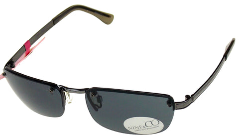 Nine & Co Rectangular Sunglasses Gray Silver 100% UV Protection Metal 58-17-130 - FUNsational Finds - 1