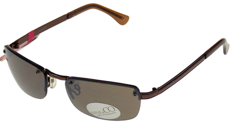 Nine & Co Rectangular Sunglasses Bronze 100% UV Rimless Metal Plastic 57-18-130 - FUNsational Finds - 1