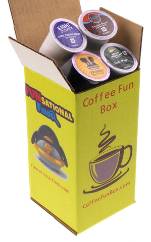Dark Roast Coffee Mystery FUN Box: 15 K-Cups - FUNsational Finds - 1