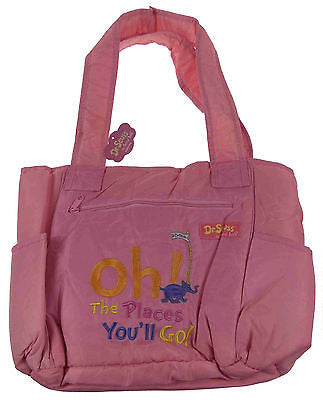 Dr Seuss Oh The Places You'll Go Baby Diaper Bag Pink Trend Lab Changing Pad NEW - FUNsational Finds - 1