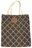 Gray White Apron & Carry Bag Tote Set 2 Home Concepts Casa Printed 100% Cotton - FUNsational Finds - 3
