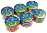 "Lot 6 Assorted Duct Tape 1.89""x10yd ArtSkills Chevron Cupcake Glitter Peace Sign - FUNsational Finds - 2"