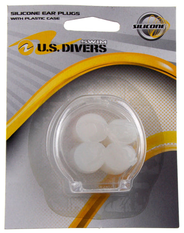 US Divers Silicone Swimming 4 Ear Plugs With Case Swim Set 4 Moldable Reusable - FUNsational Finds - 1