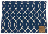 Blue White Placemats Apron & Carry Bag Tote Set of 6 Home Concepts Casa Printed