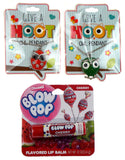 Give A Hoot Owl Pendant Necklace Red Green Charms Blow Pop Cherry Lip Balm Set 3 - FUNsational Finds - 1