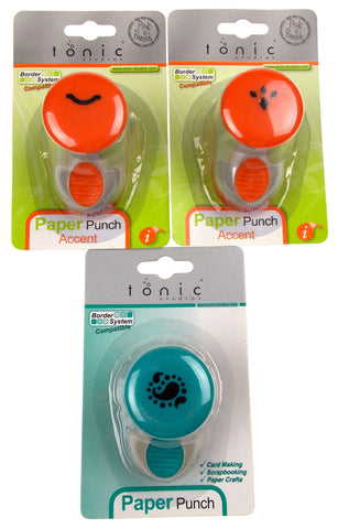 Paper Punches Diamonds Paisley Smile Accent Medium Craft Set of 3 Tonic Studios - FUNsational Finds - 1