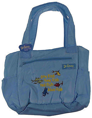 Dr. Seuss One Fish Two Fish Baby Diaper Bag Blue Trend Lab Tote Changing Pad NEW - FUNsational Finds - 1