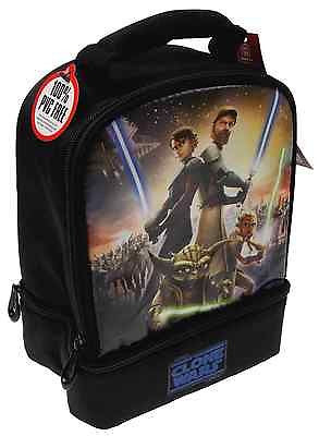 Star Wars Clone Wars Thermos Insulated Lunch Bag Anakin Ahsoka Tano Obi Wan Yoda - FUNsational Finds - 1