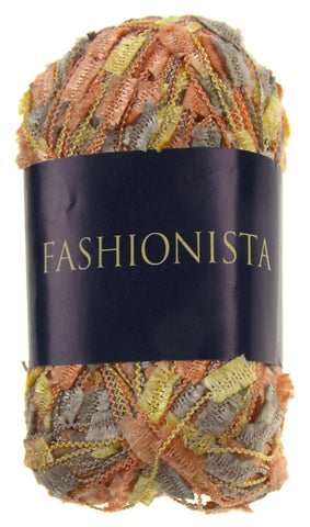 Filati Europa Fashionista Yarn Lot 4 Skeins Polyester 110yds Copper Gold 209