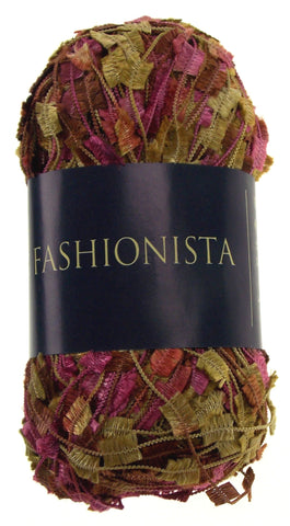 Filati Europa Fashionista Yarn 212 Lot 4 Skeins Polyester 110yd 1.75oz Pink Gold