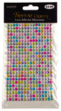Multi Color Self Adhesive Rhinestone Gems Stick On 5mm 1920 pcs Lot of 5 Crafts - FUNsational Finds - 3