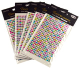 Multi Color Self Adhesive Rhinestone Gems Stick On 5mm 1920 pcs Lot of 5 Crafts - FUNsational Finds - 2