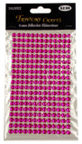 Pink Self Adhesive Rhinestone Gems Stick On 6mm 1235 pcs Lot of 5 Crafts Faceted