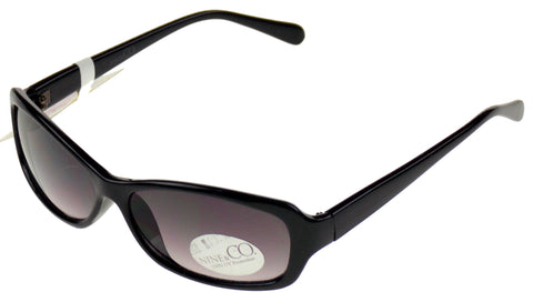 Nine & Co Rectangular Sunglasses Black 100% UV Protection Plastic 56-15-135 Case - FUNsational Finds - 1