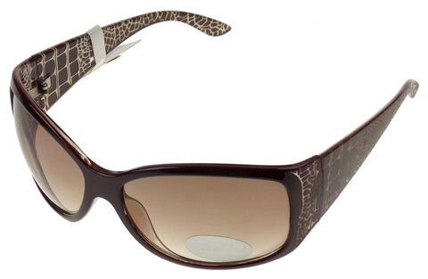 Nine & Co Cat Eye Sunglasses Brown White 100% UV Protection Plastic 65-17-130 - FUNsational Finds - 1
