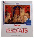 Ceaco Ivory Cats Jigsaw Puzzles Set 2 Made US 300 Pc 24x18 Christie Posky Zelly