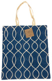 Blue White Apron & Carry Bag Tote Set 2 Home Concepts Casa Printed 100% Cotton - FUNsational Finds - 3