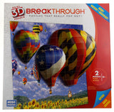 Real 3D Breakthrough Puzzle Pop Out Wolf Watcher & Hot Air Balloons Mega 18x24 - FUNsational Finds - 2