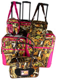 Luggage Real Tree Camo 6 Pc Travel Set Messenger Gadget Pet Carrier Expandable - FUNsational Finds - 1
