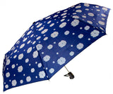 "Color Changing Umbrella Blue 42"" Rain Stoppers Floral Flowers Auto Open Close - FUNsational Finds - 2"