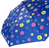 "Color Changing Umbrella Blue 42"" Rain Stoppers Floral Flowers Auto Open Close - FUNsational Finds - 3"