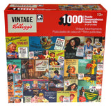 Vintage Kelloggs Retro Cereal Ads 1000 Pc Jigsaw Puzzles 20x27 Set 5 Sugar Pops