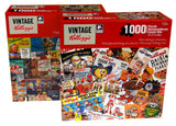 Vintage Kelloggs Retro Character Ads 1000 Pc Jigsaw Puzzles 20x27 Set 2 Pop Tart