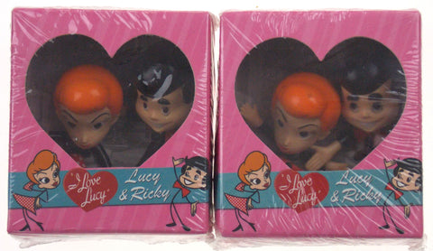 Lot 2 I Love Lucy Figurines Bobbleheads Lucy & Ricky Bendable Stick Figures Book