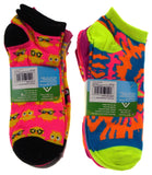 12 Pairs No Show Socks Krazisox Women Size 4-10 Owls Chicks Pink Purple Yellow - FUNsational Finds - 2