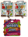 Give A Hoot Owl Pendant Necklace Red Orange Purple Nerds Flavored Lip Balm Set 3 - FUNsational Finds - 1