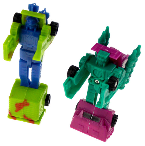 Transform Plastic Toy Tanks Robot Lot 11 Party Favors Cake Toppers Blue Green - FUNsational Finds - 1