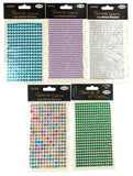 Adhesive Rhinestone Gems Stick On 1998 pcs Lot 5 Clear Purple Green Blue Wedding - FUNsational Finds - 3