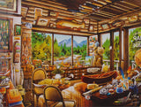 Ceaco Weekend Escape Jigsaw Puzzles 550 Pc 24x18 Set 2 Made US Fish Cabin Baking