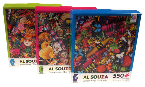 Ceaco Al Souza Montage Jigsaw Puzzles 550 Oversized Pieces 20x20  Set 3 Made USA