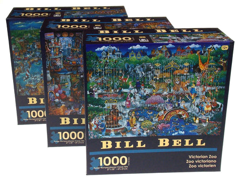 Bill Bell Lobster House Victorian Zoo Antiques 1000 Pc Puzzles 27x20 Set 3 Kamin